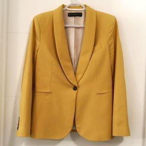 Zara Woman single button yellow blazer